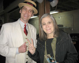 Amy Goodman with Conch Oct'12