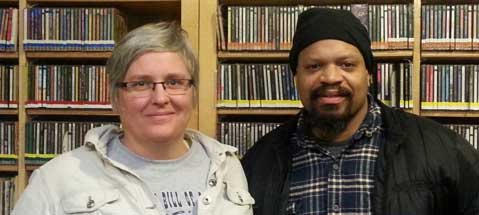 Monica Beemer and Mic Crenshaw, KBOO's new station managers