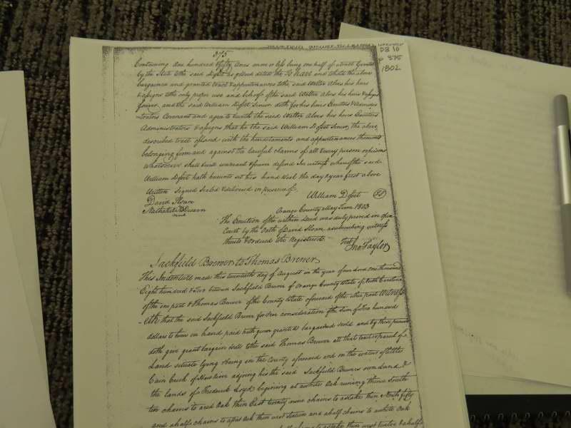 snipes land deed 1803