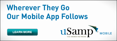 uSamp banner ad May 6