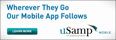 uSamp banner ad May 6