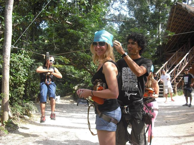 Gearing up for zip line