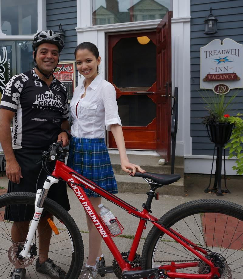 biking in kilt