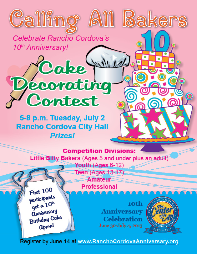 Sign up for Birthday Cake Decorating Contest -- Deadline June 14