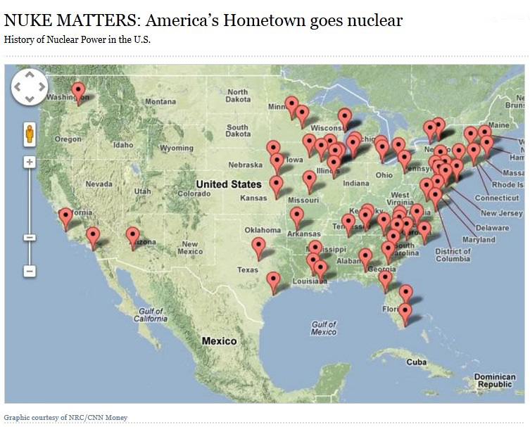Us Nuclear Plants Map - Map of nuclear plants in usa