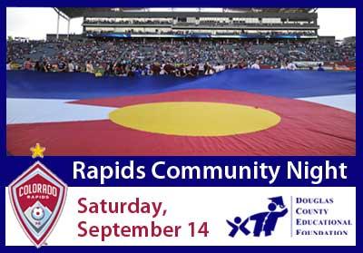Colorado flag at Rapids game