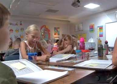Classroom with solar tube