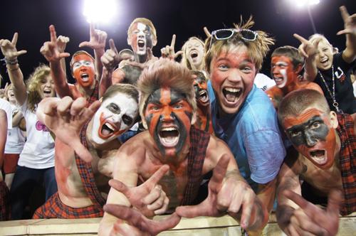 Football Fans at Backyard Bowl