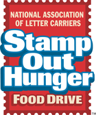 Stamp Out Hunger Food Drive logo