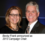 Becky Frank 2013 Campaign Chair