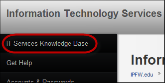 Information Technology Services adds online knowledge base.