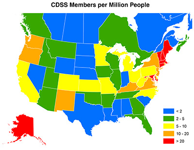 CDSS Members per Million People