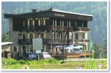 Hotel Melezes, Tignes, in the summer