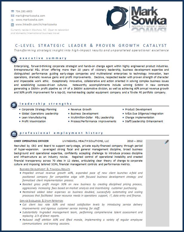 executive resume - Winning Resumes Templates