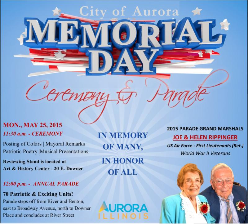 Aurora, Illinois - Memorial Day Ceremony & Parade