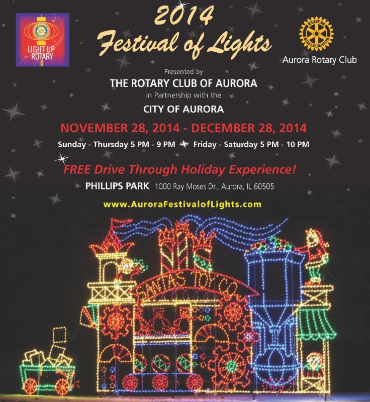 FESTIVAL OF LIGHTS - FREE Drive-Thru (Phillips Park) November 28 - December 29, 2014