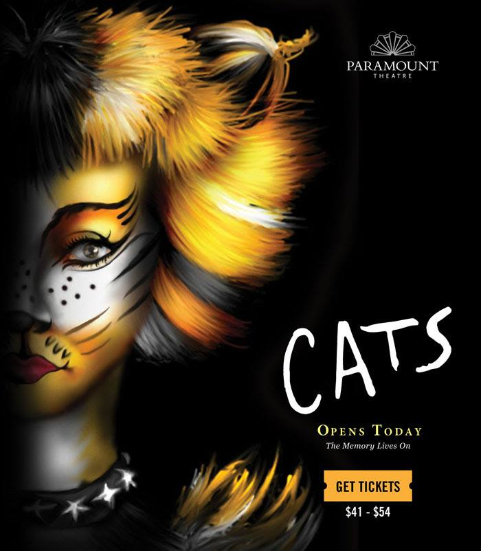 CATS OPENS TODAY AT PARAMOUNT THEATRE