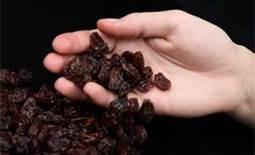 Raisins by the handful