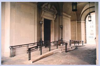ramp at entry