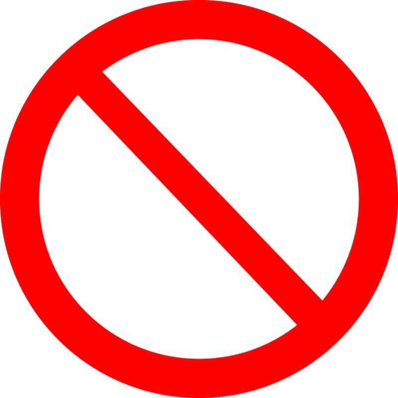 prohibited sign on white background. contains clipping path, which makes it easy to change color or resize whitout quality loss. great for using with any object.