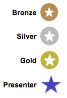 Bronze, Silver, Gold, Presenter Icons