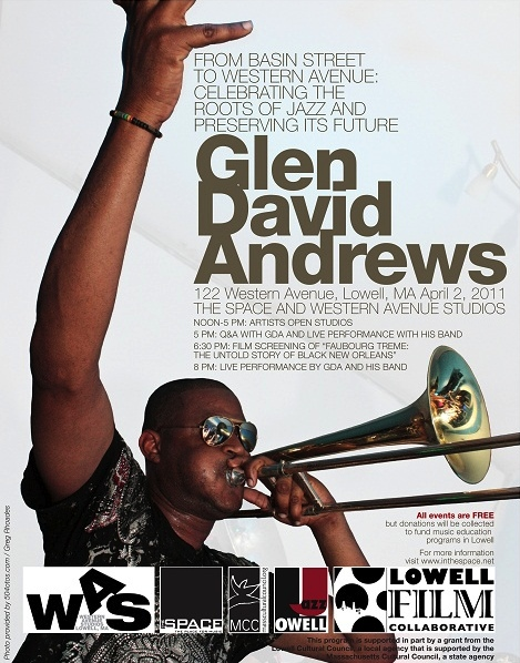 Glen David Andrews comes to Lowell, April 2