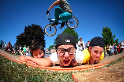 BMX fun at Day in the Park