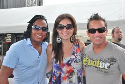 Julie Elias with Newsboys