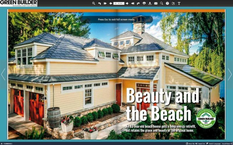 Green Builder Magazine Home of the Year Award Best Renovation 2015