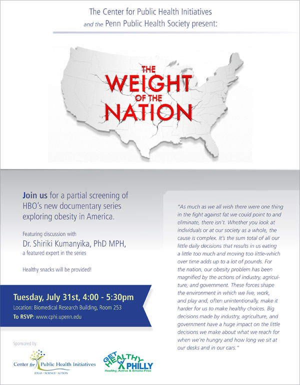 weight of the nation flyer