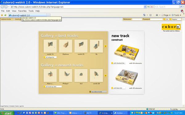 Cuboro online Webkit