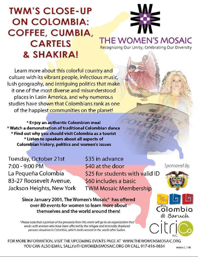 TWM Colombia Event Flyer