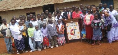 Makokha with church group