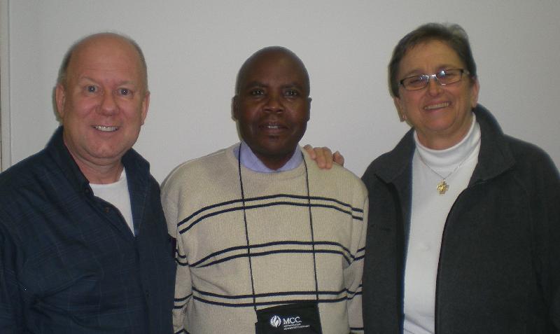 Steve Parelli, Michael Kimindu and Nancy Wilson