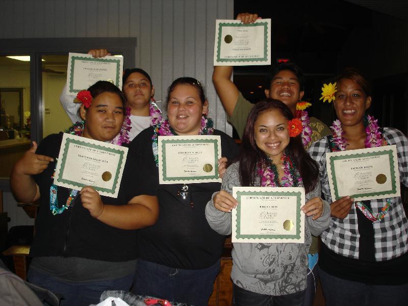 Panaewa Youth Graduates