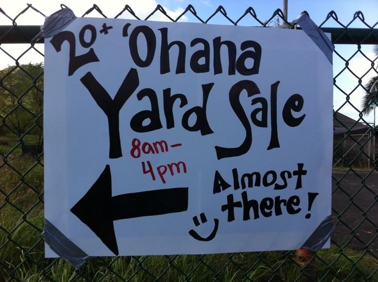 Transitional Shelter Yard Sale