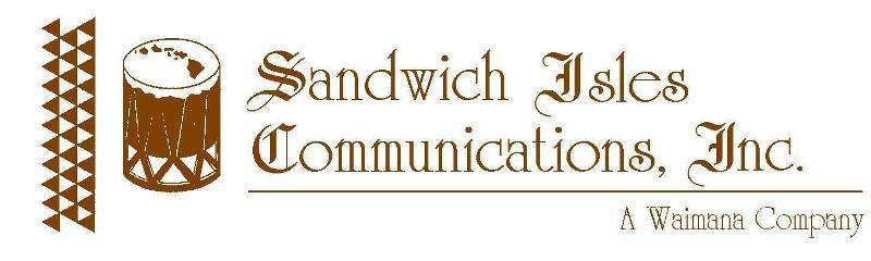 Sandwich Isles Comm Logo