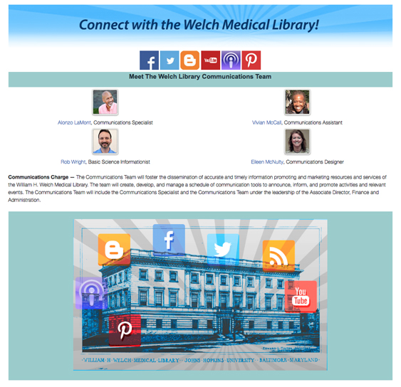 The Welch Communications Team Page