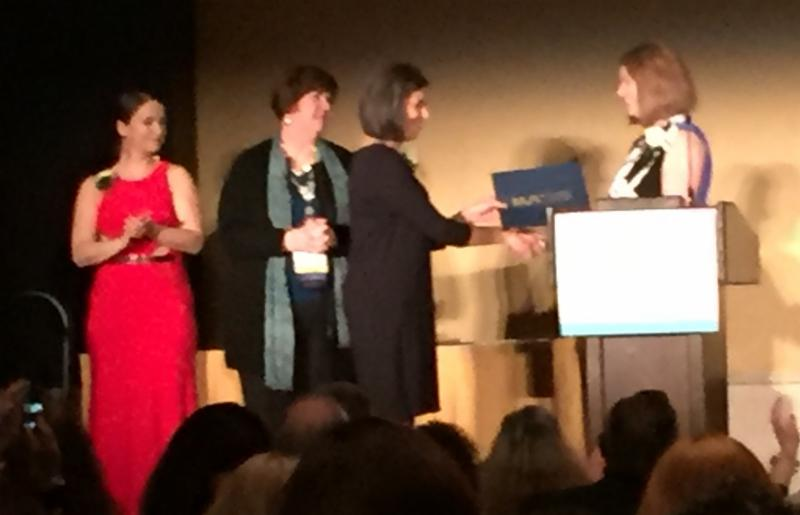 Blair Anton accepting Brodman Award