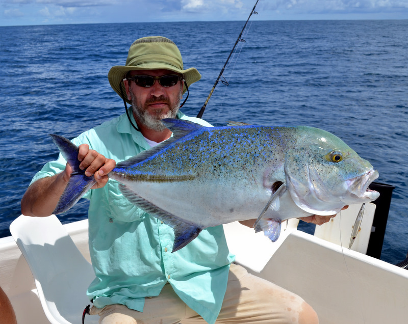Big Bluefin Trevally Caught by SDP Builder Marc Leroux