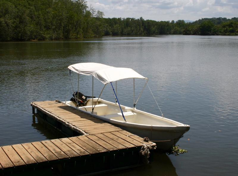 Small River Boat at Sierpe del Pacifico Dock