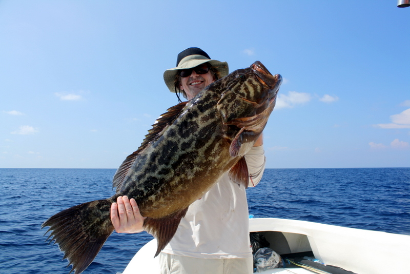 Grouper caught offshore of Sierpe del Pacifico