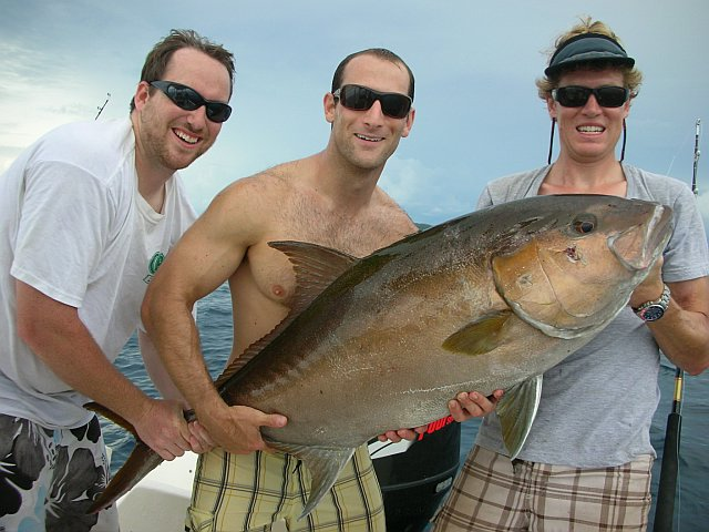 A big amberjack caught near Cano Island