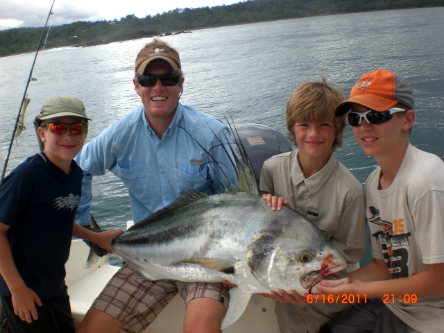 Big roosterfish caught near the Sierpe River mouth