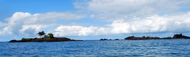 Rocky islands on the Pacific Coast