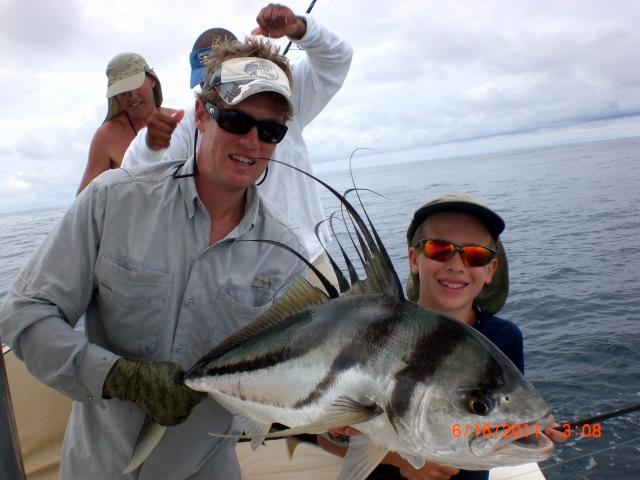 Roosterfish caught near Cano Island, Costa Rica
