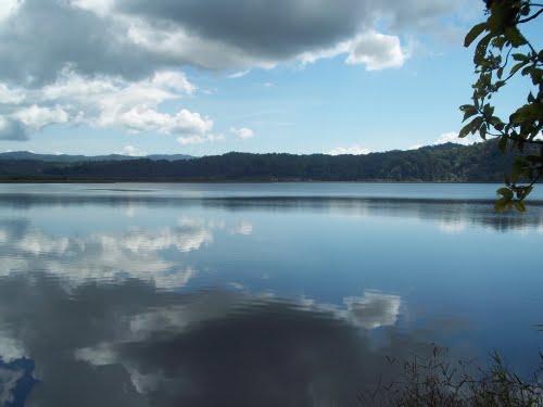 The Sierpe River headwaters lake
