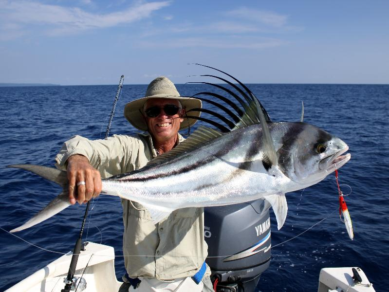 Jim Cameron with a big roosterfish