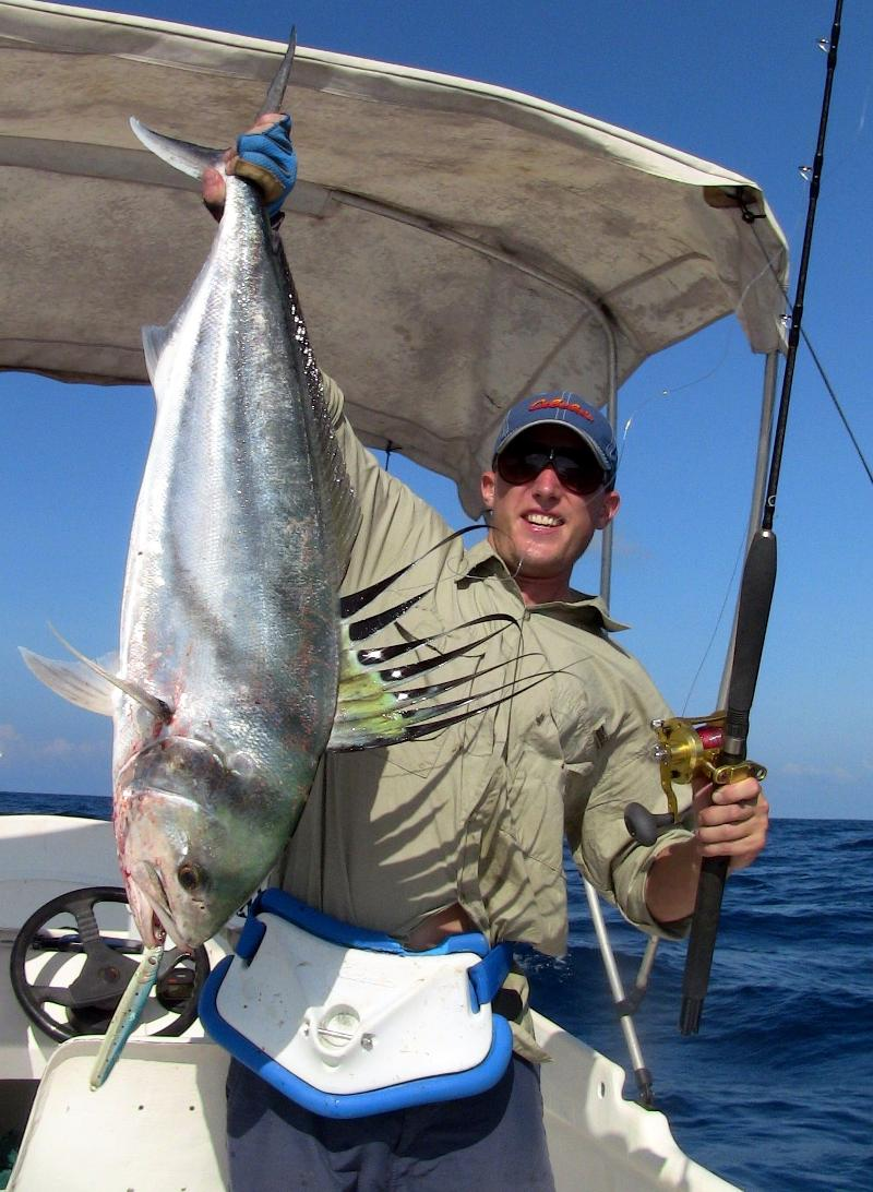 roosterfish on vertical jig