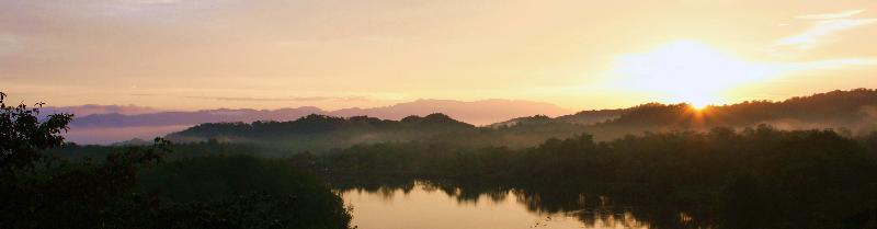 Sunrise over the river from Sierpe del Pacifico
